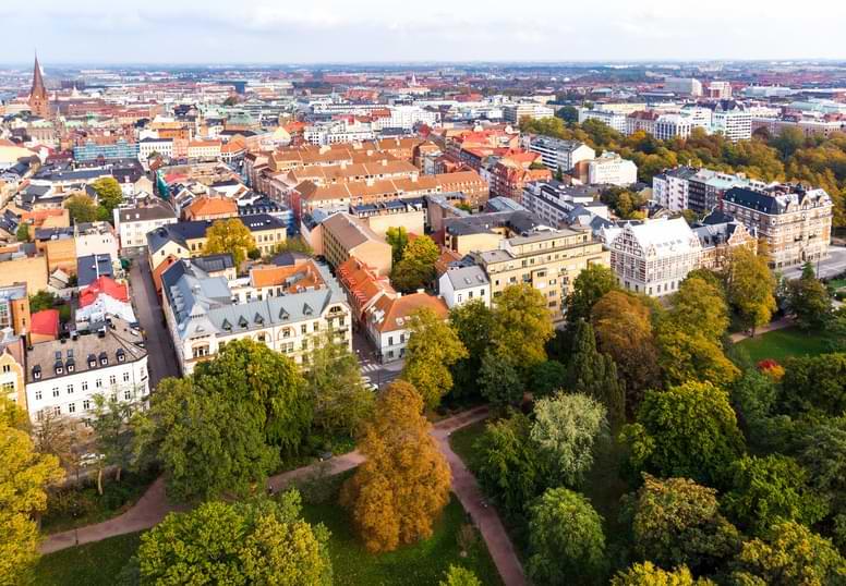 Svensk stad uppifrån